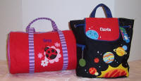 Kids duffels and bags